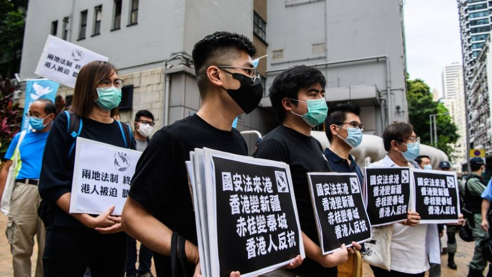 Hong Kong protests against the controversial national security law